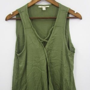 Miami Women's Green Criss Cross Tank Size L
